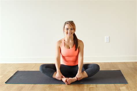 seated hip stretch yoga pose