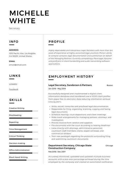 sample of resume secretary   intensive care nurse resume templatesample of resume secretary sample secretary resume job interviews