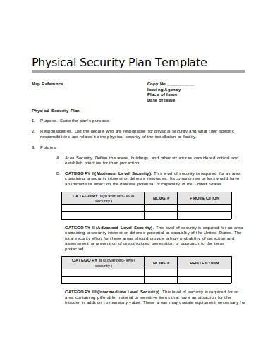 Credit Card Authorization Template Excel Security Plan Ms Word Template Instant Download