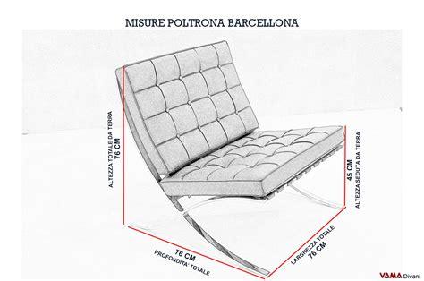 Sedia Barcelona Dimensioni
