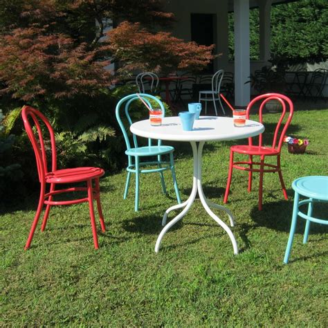 Sedie Giardino Colorate