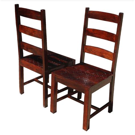 Segura Ladder Back Solid Wood Dining Chair (Set of 2)