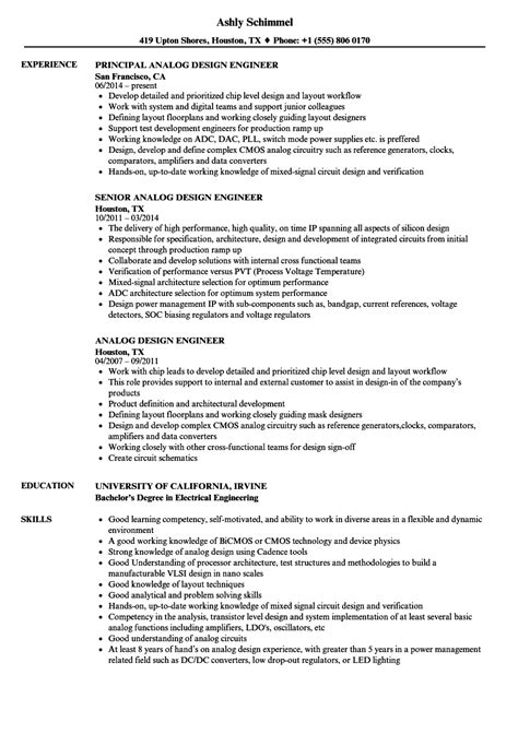 sample resume senior design engineer senior analog design engineer resume example - Analog Design Engineer Sample Resume