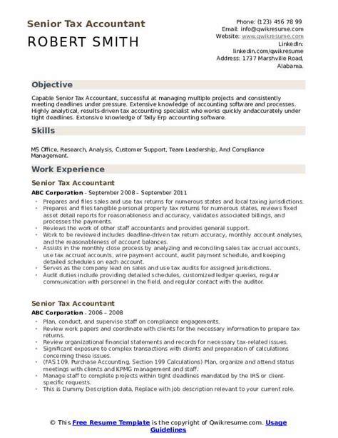 senior tax accountant resume sample accounting resume cover letter sample accountant jobs - Tax Accountant Resume Sample