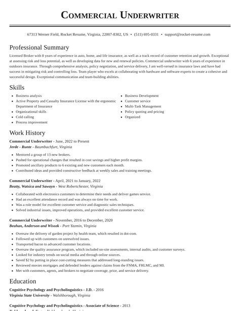 senior underwriter resume sample commercial underwriter resume samples jobhero - Underwriter Resume Sample