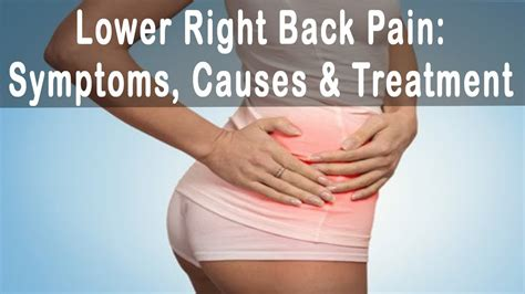 severe pain lower right side and back