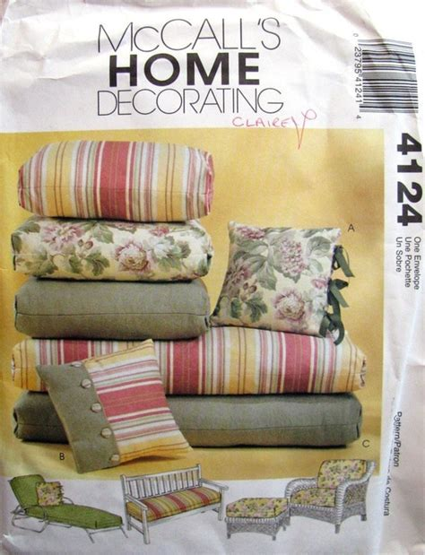 Sewing Pattern For Outdoor Furniture Cushions
