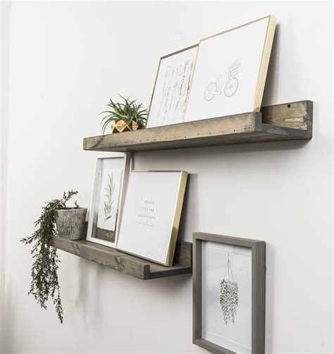 Shallow Rustic Luxe 2 Piece Floating Shelf Set