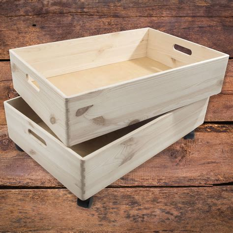 Shallow Wooden Box