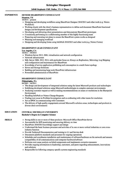 sharepoint consultant resume sample sharepoint developer resume sample developer resumes - Sharepoint Developer Resume
