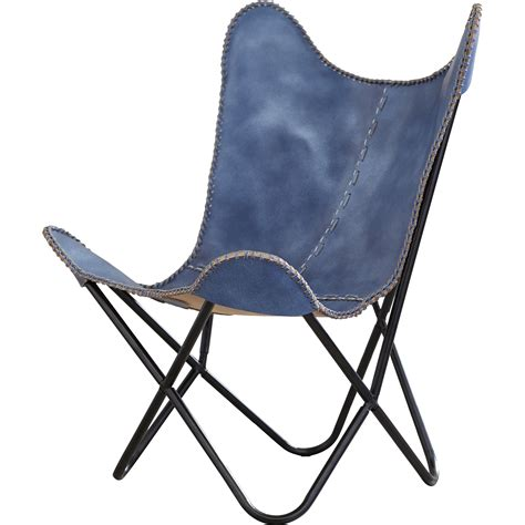 Sharon Leather Butterfly Lounge Chair