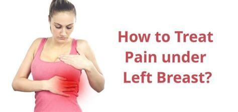 sharp chest pain left side under breast female