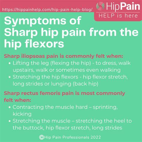 sharp hip flexor pain after hip chiropractic adjustments for infants