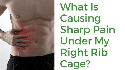 sharp pain in right side of back under rib cage
