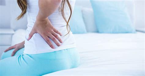 sharp pain lower left back above hip