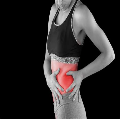 sharp pain on left side of tummy