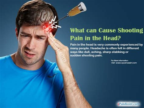sharp shooting pain in top right side of head