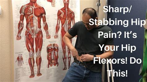 sharp sudden pain in hip flexor