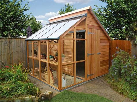 Shed Greenhouse Combo Plans