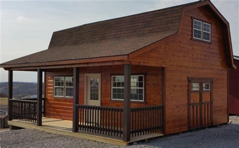 Shed With Porch And Loft