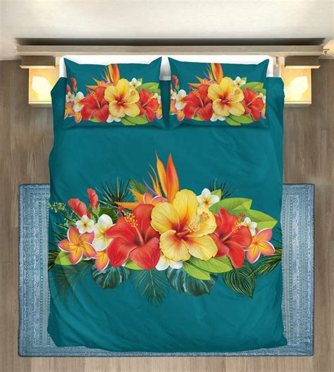 Shining Exotic Flower Floral Blanke by