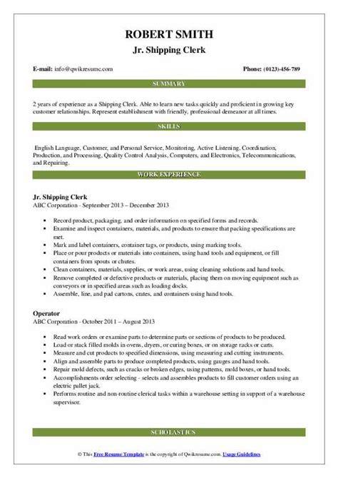 shipping clerk resume example stock clerk resume sample