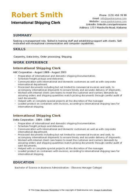 shipping clerk resume example team leader resume sample team lead resume example