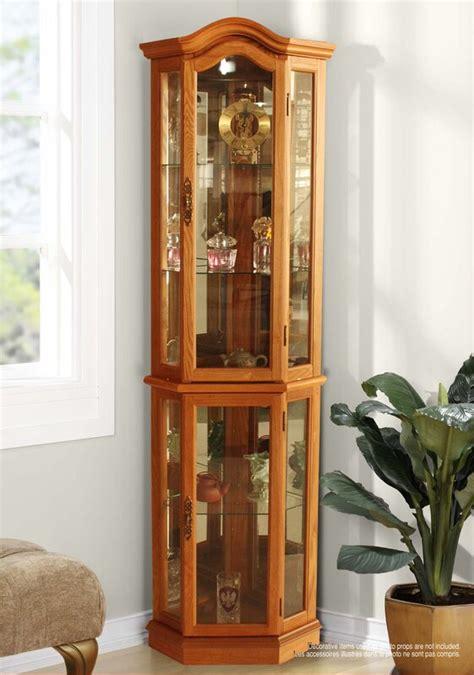 Shook Lighted Corner Curio Cabinet