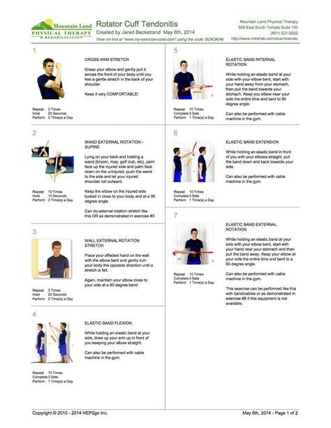 shoulder tendonitis exercises