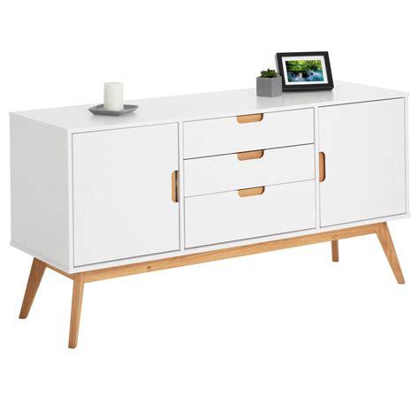 Sideboard Mit 2 Türen 2 Schubladen Metall Und Holz 85 X 42 5 X