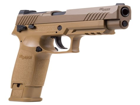 Sig-P320 Sig Sauer P320 Pellet Pistol Coyote Tan.