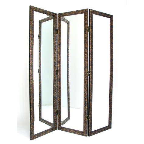 Sigiriya 72 x 60 Mirrored 3 Panel Room Divider