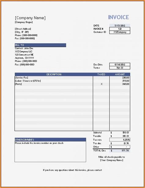 simple downloadable invoice template | professional reference, Simple invoice