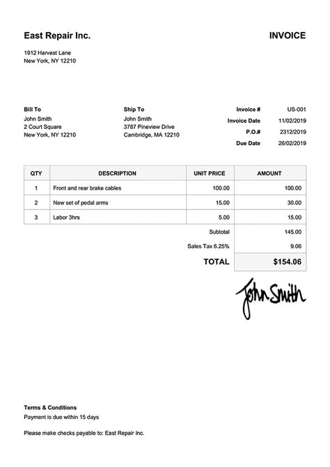 simple invoice in php | business resume cover letter, Invoice examples