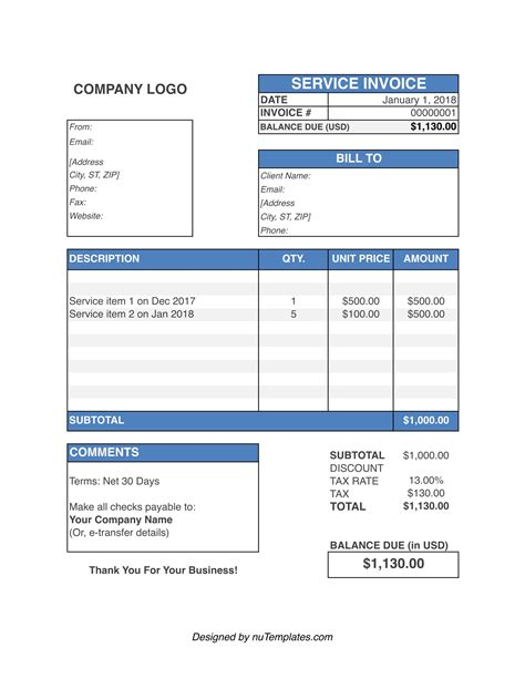 simple invoice template excel 2003 | document acknowledgement letter, Invoice examples