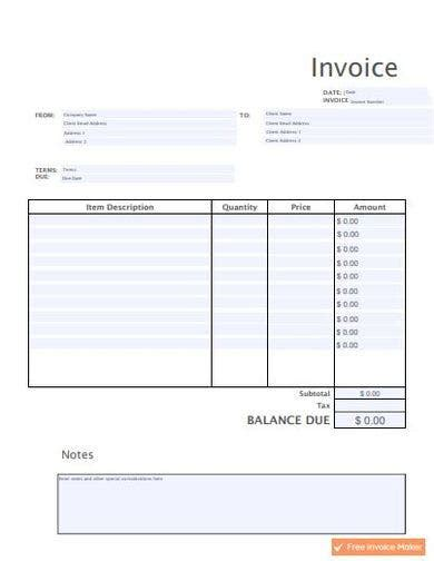 Simple Invoice Installation Simple Invoice Template For Excel Free Vertex42