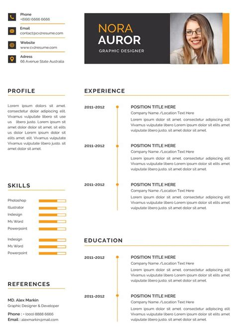 simple resume format free download download 35 free creative resume cv templates xdesigns free simple - Simple Resume Templates Free