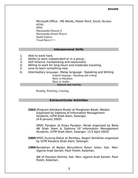 contoh contoh resume twnctry