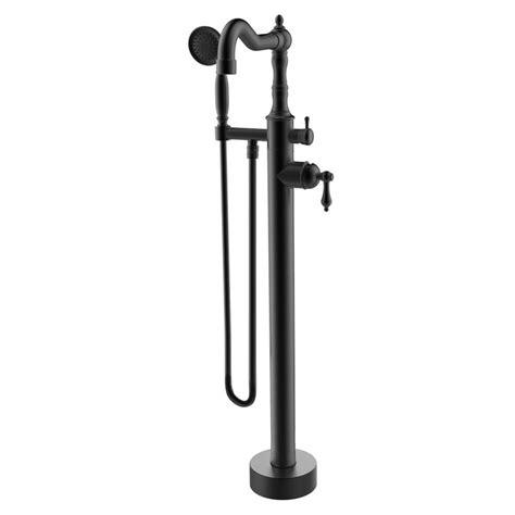 Single Handle Floor Mounted Freestanding Tub Filler with Handshower