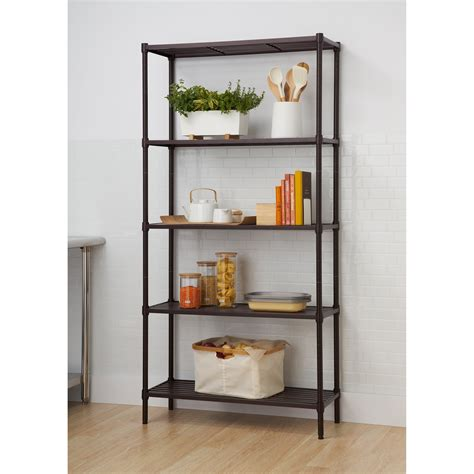 Slat 72 Five Shelf Shelving Unit