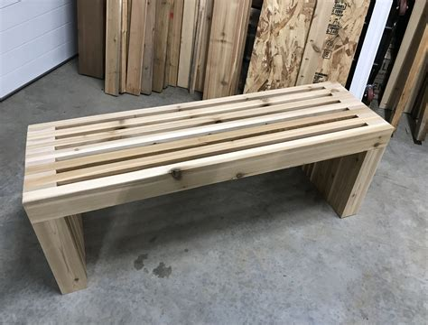 Slat Top Bench Plans