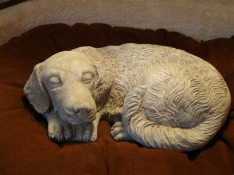 Sleeping Curled Puppy Statue