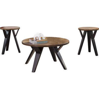 Sliva 3 Piece Coffee Table Set