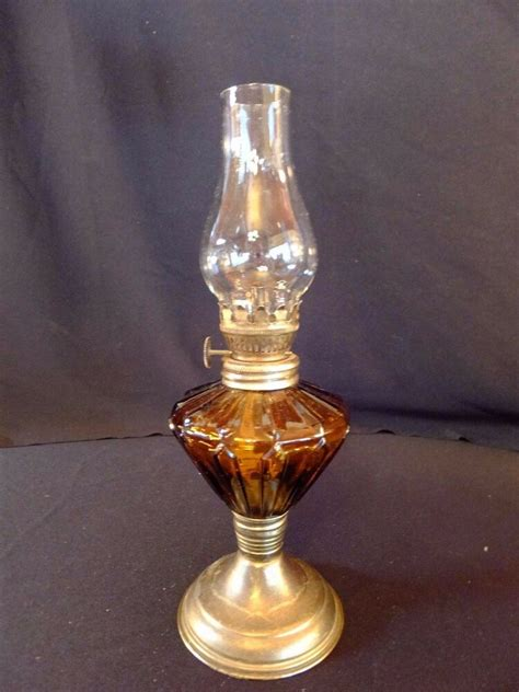 Small Amber Lamp  Ebay.