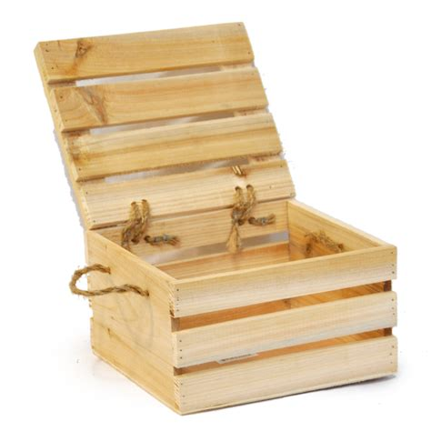 small wooden storage boxes with lids