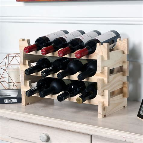 small wooden wine racks uk