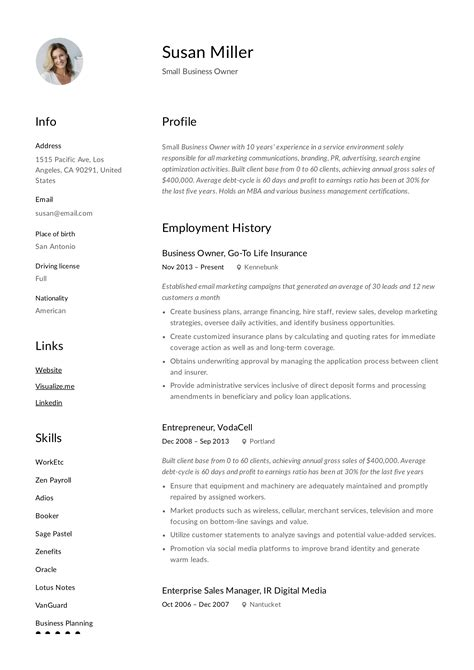 small business owner job description for resume former business owner resume sample small business manager job description