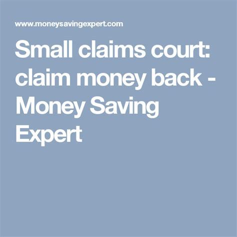 Cost Of A Lawyer For Small Claims Court Small Claims Court Claim Money Back Money Saving Expert