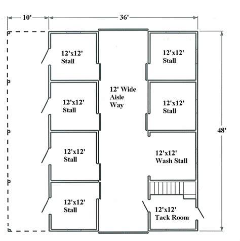 Small Horse Barn Floor Plans