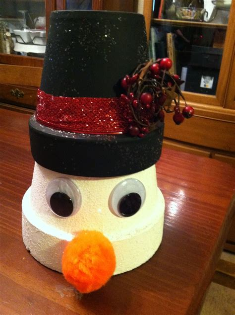 snowman clay project ideas